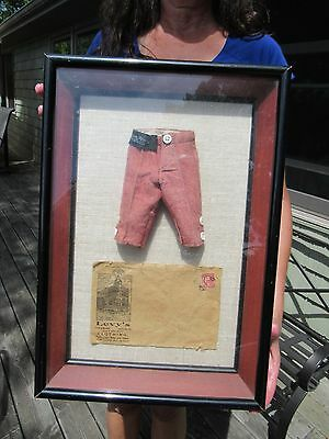 ORIGINAL c1912 LEVY'S BROS CLOTHING SALESMANS SAMPLE PANTS & COA LOUISVILLE KY