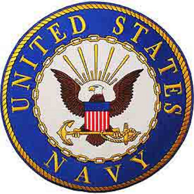 """US NAVY  """"UNITED STATES NAVY""""   PATCH  Iron / Sew-on Patch  10 inch Round patch"""