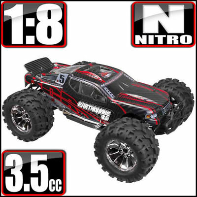 REDCAT 1/8 EARTHQUAKE 3.5 4X4 Nitro RC Monster Truck  2.4ghz Remote Black Red