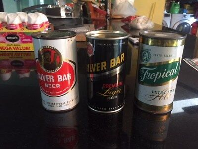 Lot Of Three Nice Florida Beer Cans Two Tuff Silver Bars And One Tropical Ale