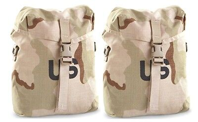 US Military Army Molle SUSTAINMENT UTILITY SAW POUCH DCU Desert Tan NEW pair (2)
