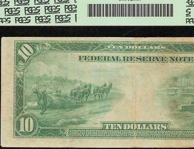 Large 1914 $10 Dollar 1048 3333 Federal Reserve Note Paper Money Currency Pcgs