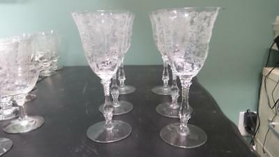"""Set of 6 ROSEPOINT Water Goblet 8 1/4"""" in perfect condition LOW PRICE"""