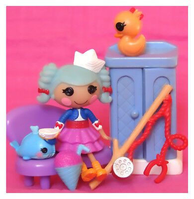 Lalaloopsy Mini Doll MARINA ANCHORS SILLY FUN HOUSE - COMPLETE + Accessories