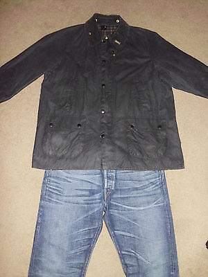 BARBOUR Men's 44 Bedale WAX Lined Jacket Made in England Cotton Work Style