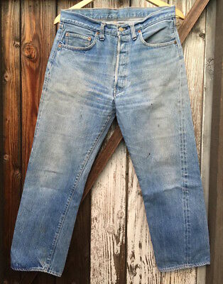 Vintage Levi's 501 Single Stitch W31 L27, Red line, not big E