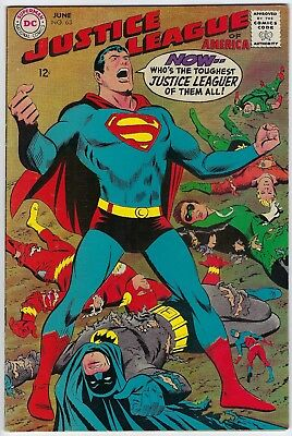 "Justice League of America #63 (Jun 1968, DC) FN/VF 7.0 ""NEAL ADAMS COVER"""