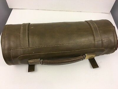 Vintage EMS Field Military Medical First Aid Surgical Kit / Chef Leather Roll
