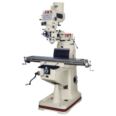 Jet 691170 JTM-4VS Mill 3-Axis Newall DP700 DRO (Quill) X Y Z-Axis Feed Draw Bar