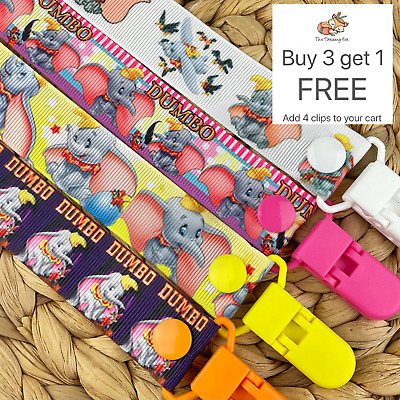 Dummy Clip pacifier chain dummie binky baby soother holder dumbo gift