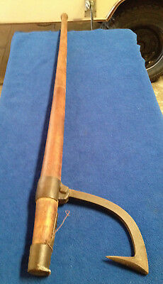 Antique 1 Man Railroad Tie Lifter Log Handle Tong Carrier Logging
