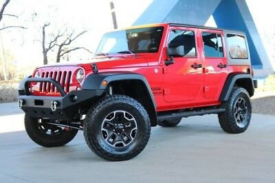 2015 Jeep Wrangler Sport 2015 Jeep Wrangler Unlimited Sport 34868 Miles Firecracker Red Clear Coat Conver