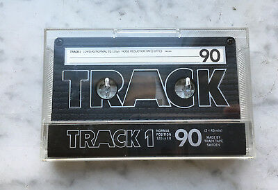TRACK 1 90 cassette tape, new-unsealed, Made in Sweden, 1981