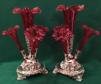 Stunning pair of centerpieces by Roberts & Belk c1890