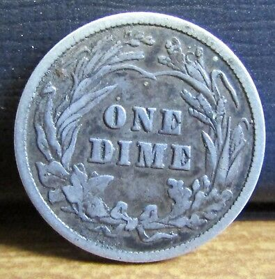 1900 USA United States of America Silver Barber 1 Dime Coin