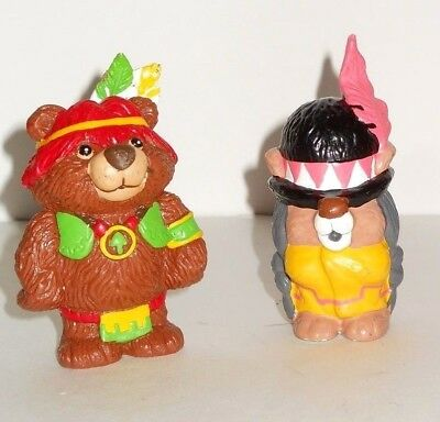 Vintage 1985 Hanna Barbera Applause PAW PAWS pvc Figure Lot of 2 Bear Toys