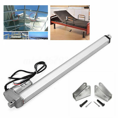 12V DC Linear Actuator Motor 750N 165LBS 200mm Electric Door Opener UK Stock