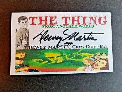 """THE THING"" DEWEY MARTIN ""Crew Chief Bob"" Autographed 3x5 Index Card"