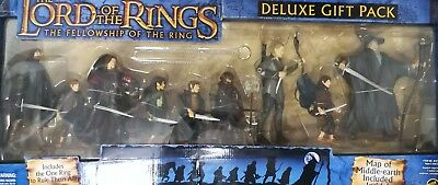 Lord Of The Rings 9 Figures DeLuxe Pack With RING!! Fellowship Of The Ring