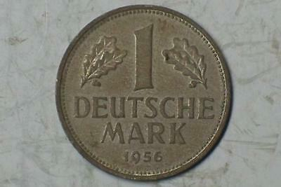 1956 F 1 MARK  DEUTSCHES REICH OLD GERMAN COIN #4344 glcw
