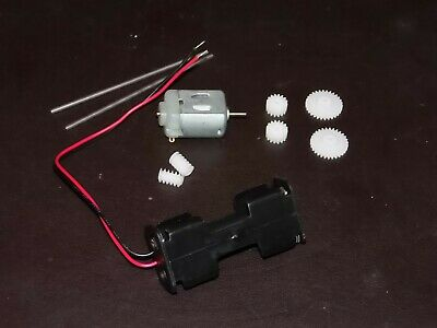 3v 3 volt 13300 Rpm DC Motor SHAFTS COGS GEARS 10MM  BATTERY HOLDER PROJECTS