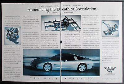 Chevrolet Corvette C5 Coupe 1997 Advertisement Ad The Death Of Speculation