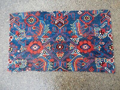 3 ANTIQUE EARLY 19th CENTURY PERSIAN ORIENTAL RUG FRAGMENTS All SQUARE SIZES