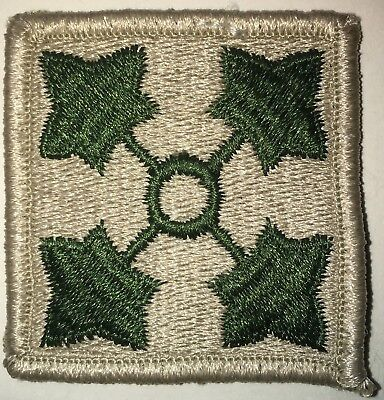 Us Army Color 4Th Infantry Division Patch Used (L200)