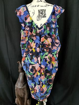 HM sexy floral multi color party casual Tulip style dress ties size 40