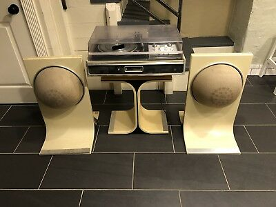 """Vintage 1970's electrophonic """"APOLLO"""" series stereo with air suspension speakers"""