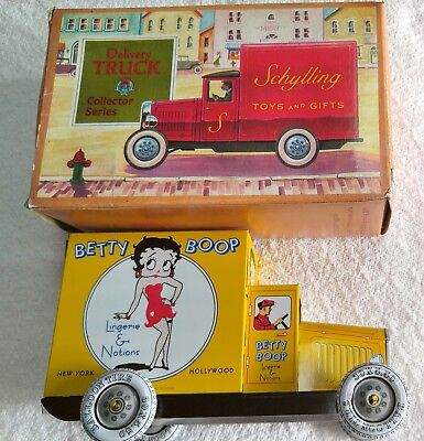 1990 BETTY BOOP DELIVERY TRUCK SCHYLLING TIN LITHO Toy King Features Lingerie
