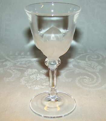 """Signed Cristal d' Arques J G DURAND """"Florence"""" 4 5/8"""" Crystal Cordial Shot Glass"""