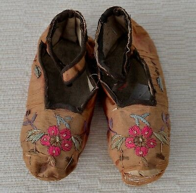 Antique/vintage Embroidered Oriental Baby/child's Shoes