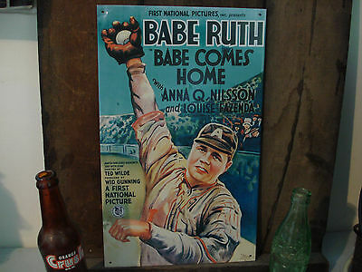 BABE RUTH BASEBALL METAL DECOR OOP vintage-look advertising ad cover retro-style