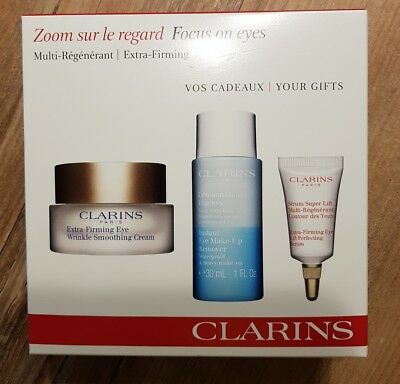 Clarins Set Zoom sur le regard/Focus on eyes/Multi regenerant/Extra Firming NEU