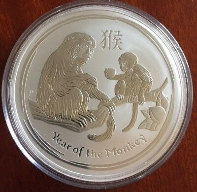 2016 Australian Perth Mint Lunar Monkey 10 oz Silver Coin