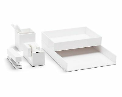 Poppin All Set! 12-Piece Desk Collection, White