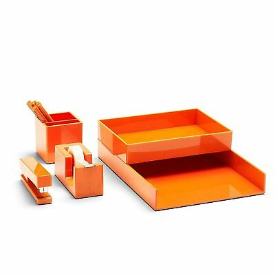 Poppin All Set 12-Piece Desk Collection Organizer - Orange