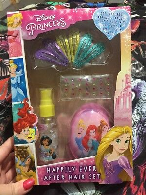 Disney Princess Happily Ever After hair Set Brand New Sealed