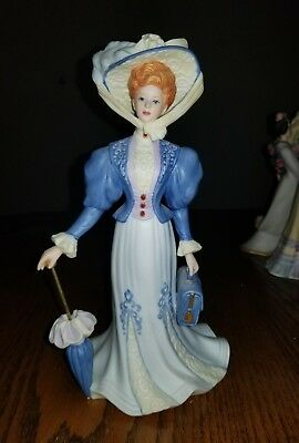 Lenox Victorian Ladies of Fashion 1995 Grand Voyage Lady Figurine with Umbrella