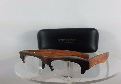285aaec33a5a BRAND NEW AUTHENTIC Gold and Wood Omega 03 Brown 55mm Frame ...