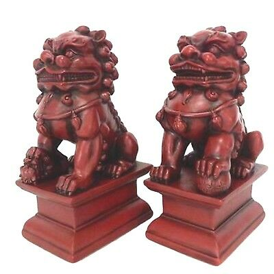 Foo Dog 2 Piece Male and Female Statue Set Home Or Garden Decor Free Shipping