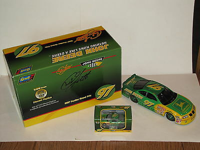 Chad Little #97 John Deere 1/24th & 1/64th Scale Bank Set Autographed Box