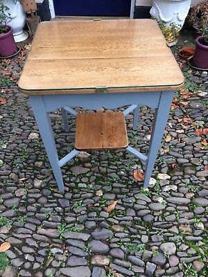 Good Solid Oak Arts & Crafts Painted Pub Table Small Dining Table Card Table