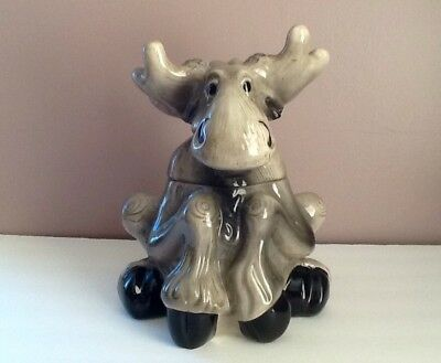 Bearfoots Moose Cookie Jar Big Sky Carvers Table Top by Phyllis Driscoll