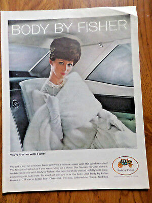 1964 Body by Fisher Ad Chevrolet Pontiac Olds Buick Convertible Fresh Air Twice