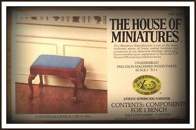 Doll House Of Miniatures Chippendale Bench Or Foot Stool Kit, Antique Replica