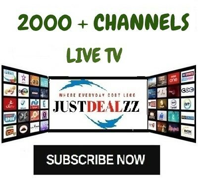 IPTV SUBSCRIPTION 1-12 Months - 2000+ LiveTV + 10,000+ VOD + PPV  / IPTV SERVICE