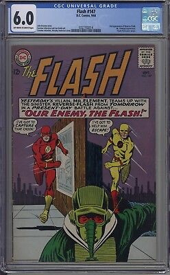 Flash # 147 CGC 6.0 OW-W 2nd app of Reverse Flash, #123 Cover Swipe