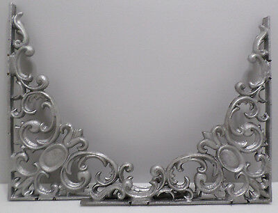 "Pair of Cast Aluminum Ornate Shelf Brackets Large 15 1/4""  x  15 1/4""  x  3/4"""